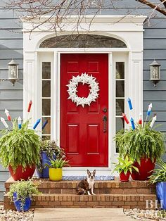 Decorate your home in the spirit of Independence Day with our red, white, and blue 4th of July decorations. These easy decorations cover every July 4th theme you can think of—including flags and fireworks—and they're cute to boot. #fourthofjuly #fourthofjulyideas #fourthofjulyparty #bhg Decorating Blogs, Porch Decorating, Decorating Your Home, Votive Candles In Glass, Independence Day Holiday, Seasonal Decor, Holiday Decor, Christmas Decor, Christmas Decorations