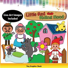 Little Red Riding Hood clipart images