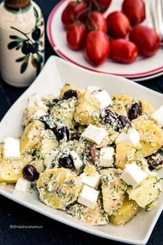 SALATE CU CARTOFI | Diva in bucatarie Potato Recipes, Baby Food Recipes, Cooking Recipes, Feta, Hungarian Recipes, Romanian Recipes, Mini Pizza, Romanian Food, Healthy Salad Recipes