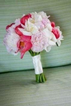 Ramos de novia para una boda en el campo: Fotos de los mejores - Ramo blanco y rosa