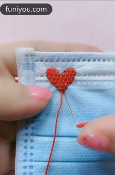 Diy Crafts Hacks, Diy Crafts For Gifts, Diy Arts And Crafts, Kids Crafts, Paper Crafts, Hand Embroidery Videos, Hand Embroidery Tutorial, Hand Embroidery Designs, Sewing Projects For Beginners