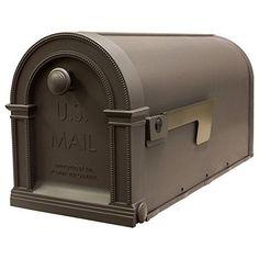 Gibraltar LM11000M Laurel Decorative Plastic Post Mount Mailbox, Mocha Latte New