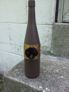 Painted Decorative Wine Bottle