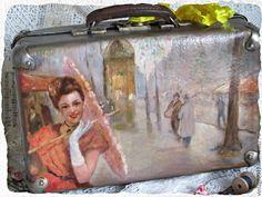 """Купить Ретро чемодан """" Воспоминания"""" - разноцветный, винтаж, ретро, интерьер, детская, любовь, Декупаж"""
