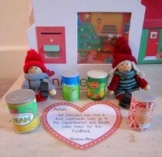 Kindness elves visiting the food bank