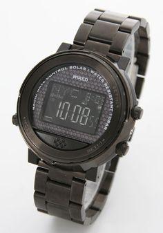 セイコー ワイアードH ソーラー電波 ワールドタイム ブラック デジタル メンズ AGWH009 [セイコー] 激安!人気ブランドウォッチ・腕時計のネットショップ
