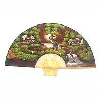 River Village Wall Fan 12775  Price: $19.99 Ninja Gear, Large Fan, Wall Fans, Asian Decor, Asian Art, Hand Fan, Feng Shui, Oriental, Hand Painted