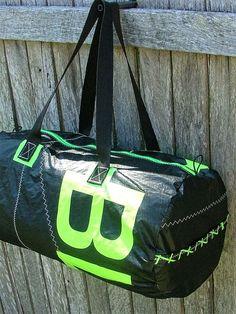 Duffle bag made from kitesurf material