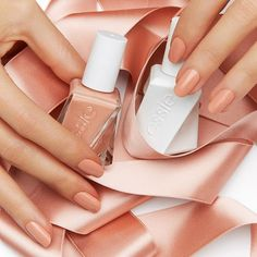 Tan nail polish color - Pretty pink caramel 'Sew Me' from the brand new essie gel couture 'atelier' collection! Essie Nail Colors, Essie Gel, Pretty Nail Colors, Nail Polish Colors, Pretty Nails, Nail Polish Designs, Nail Art Designs, Nail Manicure, Gel Nails