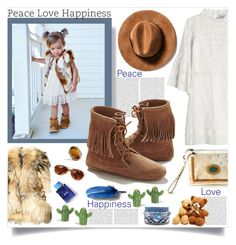 """""""Peace. Love. Happiness."""" by peony-and-python ❤ liked on Polyvore featuring Sea, New York, Roberto Cavalli and Minnetonka"""