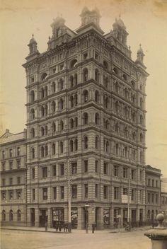 Finks Building. Flinders Street, 1892. Melbourne Victoria, Victoria Australia, Melbourne Australia, Brisbane, Places In Melbourne, Aboriginal History, Vintage Architecture, Historical Images, New City