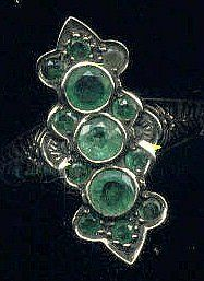 All Emerald dinner ring
