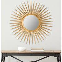 Safavieh Radiant Flair Gold 36-inch Sunburst Mirror