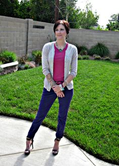 Fuchsia and purple #outfit