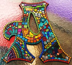 Custom letters/initials by Tina @ Wise Crackin' Mosaics