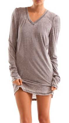 Burnout Shirt Dress - Casual and cute. I need this! I would wear this as a night gown...looks comfy!