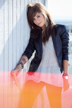Christina Perri. I am obsessed with her hair!