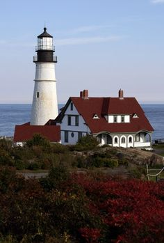 Portland Head Lighthouse, at the entrance to Portland Harbor in Main