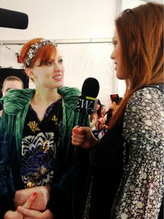 Interviewing my sweet big sister @KarenElsonMusic at #AnnaSui for @NYMag. #NYFW