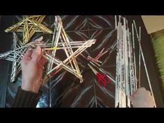 Sterne aus Zeitungspapierröllchen - YouTube