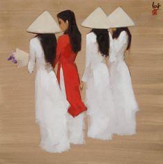 Nguyen Thanh Binh, 1954 ~ Minimalist Figurative painter