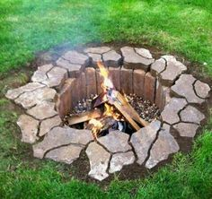 I like the idea of an underground firepit.