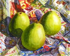 Pears by Terrece Beesley: Watercolor Painting available at www.artfulhome.com
