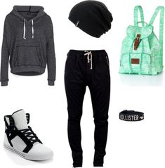 """Lazy outfit"" by leslieroks on Polyvore"