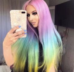 Straight Lace Front Wigs, Synthetic Lace Front Wigs, Synthetic Wigs, 360 Lace Wig, Lace Wigs, Remy Human Hair, Human Hair Wigs, Rainbow Wig, Rainbow Unicorn