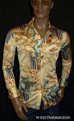 70's disco shirts for men - Authentic Vintage 1970's Shirt