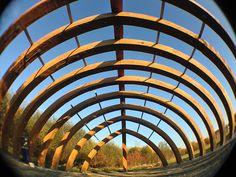 ekologické centrum Sluňákov realizace Lesní chrám - 2013