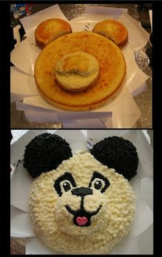 How to make adorable furry cakes (hairy cakes) - The C .- Cómo hacer los adorables furry cakes (tartas peludas) – El Cómo de las Cosas How to make adorable furry cakes (hairy cakes) – The How of Things - Cake Decorating Techniques, Cake Decorating Tips, Cookie Decorating, Cupcakes, Cupcake Cakes, Cake Fondant, Buttercream Cake, Panda Cakes, Bear Cakes
