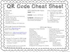 Primary Junction: Cracking The Code: QR Code Cheat Sheet