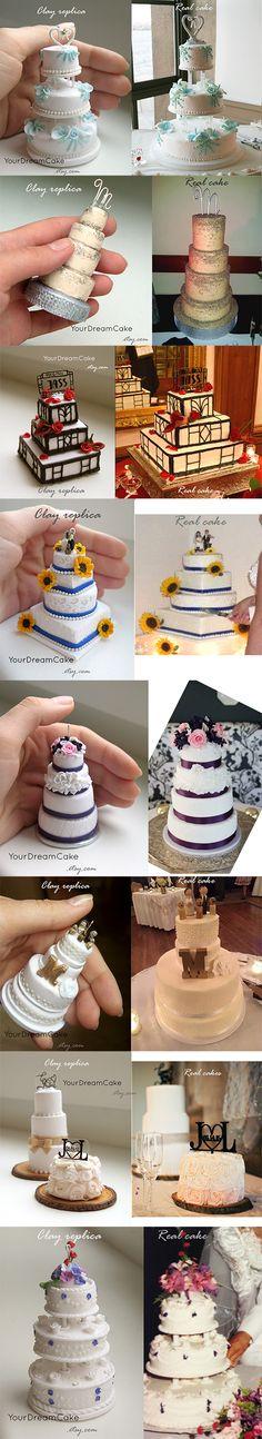 Yourdreamcake wedding cake replica ornament, dreamcake wedding cake replica ornament, yourdreamcake.etsy.com
