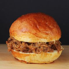 Crock Pot BBQ Pulled Pork Sandwich