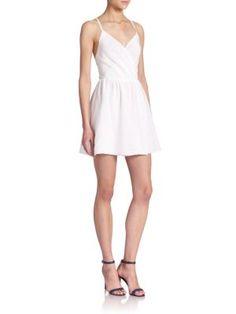 Alice + Olivia - Cara Printed Fit & Flared Dress - Saks.com