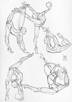 rhythmic gymnastics poses