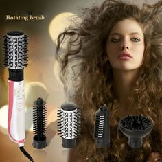 Chj máy sấy tóc bàn chải xoay tóc tự động máy sấy bàn chải tóc máy sấy đa chức năng ionic tóc styler gốm chỉ 220 v