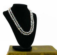 Vintage Bead Necklace- Vintage Crystal Necklace- Vintage Lisner Necklace- Gift For Her- Mom Gift- Fashionista Gift