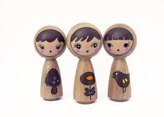 peg dolls. by boxsquare., via Flickr