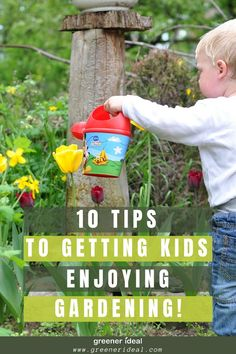10 Tips to Get Kids Enjoying Gardening Craft Activities For Kids, Diy Crafts For Kids, Outdoor Activities, Green Living Tips, Inspired Learning, Outdoor Learning, Grow Your Own Food, Growing Plants, Parenting Hacks