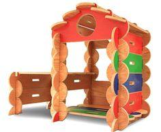 Bilderhoos Play Set: wooden architectural playhouse set that kids build indoors or outside with no tools! Reconfigurable and made to last.