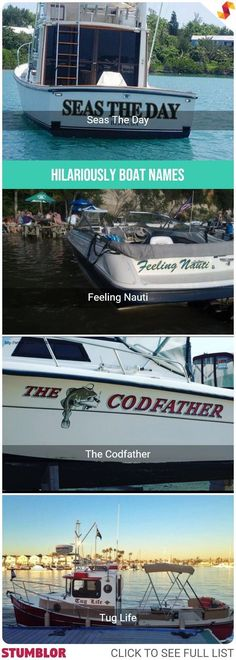Hilariously Funny Boat Names That Will Make You Laugh #hilarious #fun #funny #humor #epic #boat #boats #boatnames #name #names #stumblor