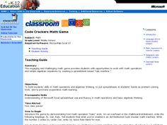 Code Crackers Lesson Plan | Lesson Planet