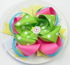 Large Hair Bow for Girls  Spring Flower Hair by SheWearsitWell, $14.50
