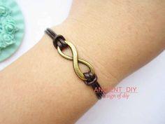 Bracelet---antique DIY bronze little infinity bracelet. $2.99, via Etsy.