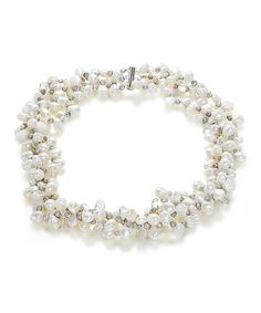 Take a look at this Multi-Strand Twist Pearl Necklace by Orchria on #zulily today!