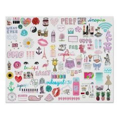 cute girly collages | Tumblr Collage Poster {Girly and Cute}