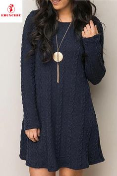 This long sleeve shift dress is a knitwear for casual life in spring and autumn. shift dress outfit,shift dress formal,shift dress outfit fall,shift dress outfit work,shift dress outfit spring,shift dress outfit casual,shift dress outfit formal,shift dress outfit casual,casual shift dress #shiftdress #shiftdresses #shiftdresscasual #shiftdressoffice #shiftdressoutfit #shiftdressfall #springshiftdress #alineshiftdress  #fashion #ebuychic Shift Dress Outfit, Casual Dress Outfits, Summer Dress Outfits, Spring Outfits, Outfit Work, Shift Dresses, Shift Dress Pattern, Knit Dress, Fashion Dresses