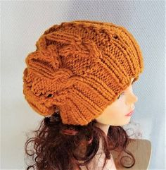 cable knit hat slouchy women and men High Heat Cap original